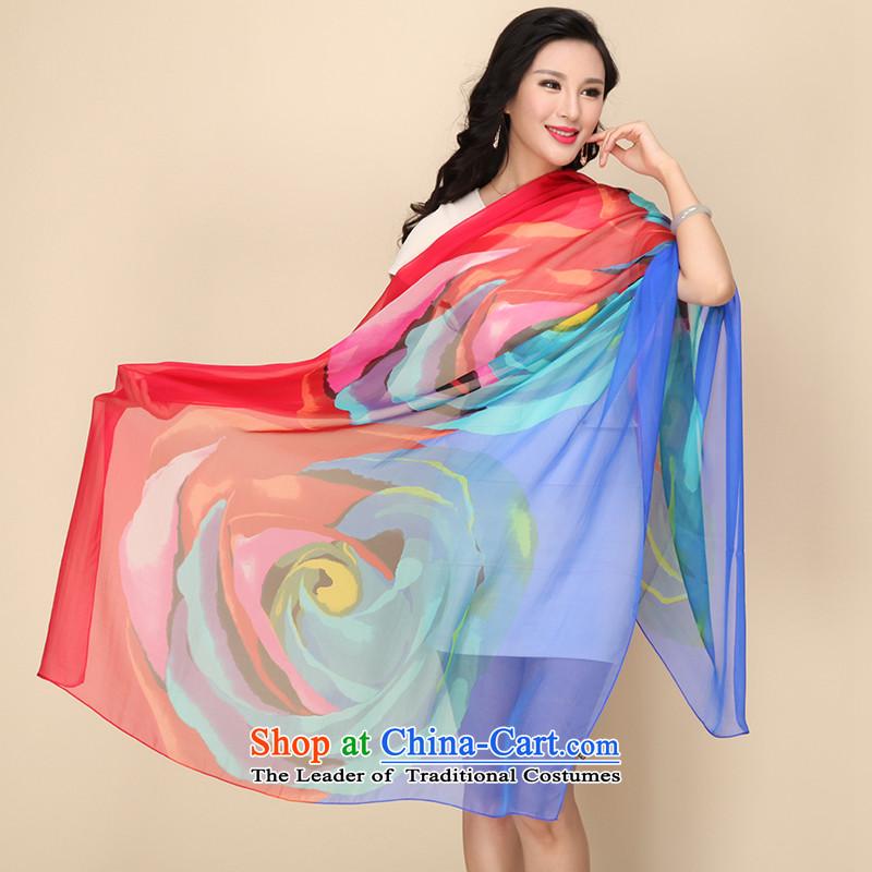Shanghai Story silk scarf upscale silk scarfs wild herbs extract spring and autumn, silk scarves long shawl colorfully Sapphire Blue, Shanghai Story STORY IN SHANGHAI) , , , shopping on the Internet
