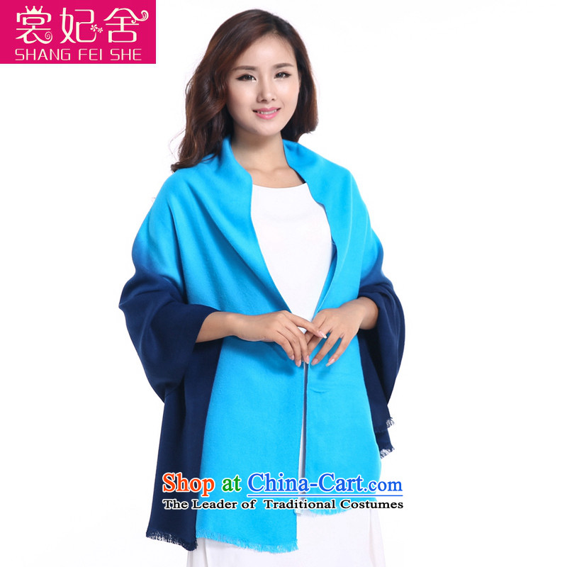 The Advisory Committee for the autumn and winter load princess new female pashmina long gradients thick a sleek and versatile Warm Big shawl gradient skyblue ---- other
