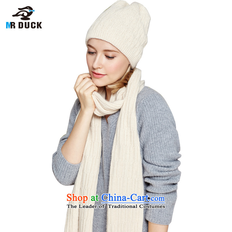 The Korean version of autumn and winter hat scarf female kit upscale hand-woven rabbit wool berets scarves couples II KITMW15915- apricot