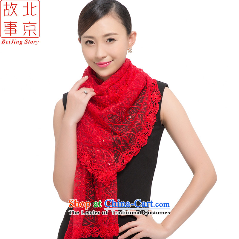 Beijing story2015 new stylish light film of the scarf women sunscreen shawl Star City 178034 Red