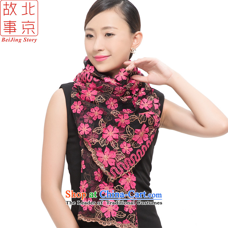 Beijing story2015 new stylish light film of the scarf women sunscreen shawls-if the Peach red in the 178036