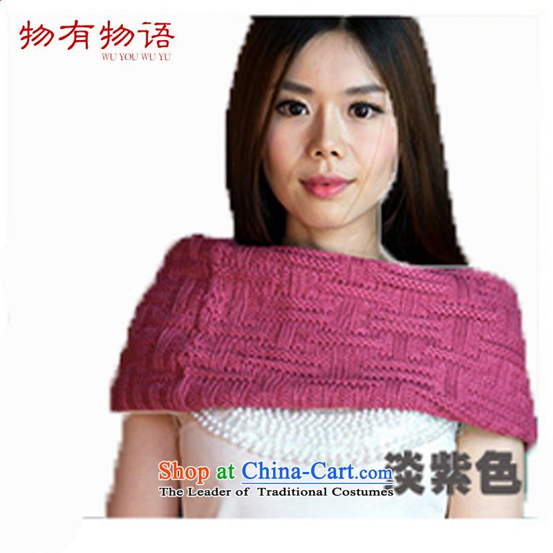 Energy Tifi Li scarf autumn and winter new Korean Sleek and versatile a knitting, knitting kit history Ms. shawl dual-use light purple