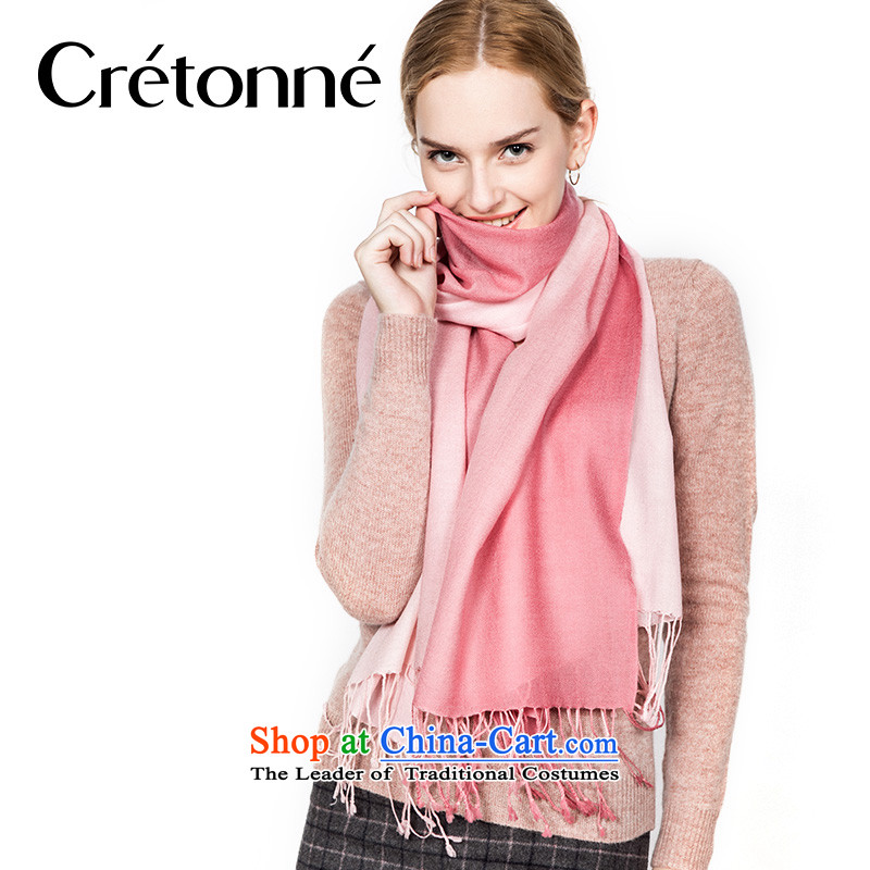 The gradient of the scarf wool CRETONNEC autumn and winter, gradient brushed warm, handkerchief also pink gradient