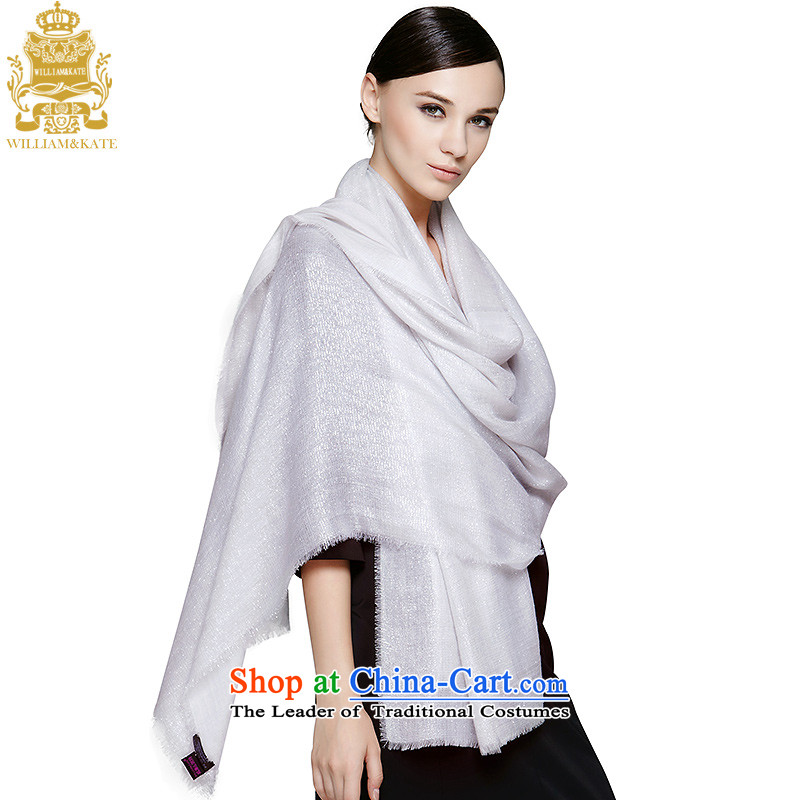 Williams & Ms. Kate WILLIAM&KATE PASHMINA 300 support four-storey silver silk cashmere shawls gray WJ35493 scarf