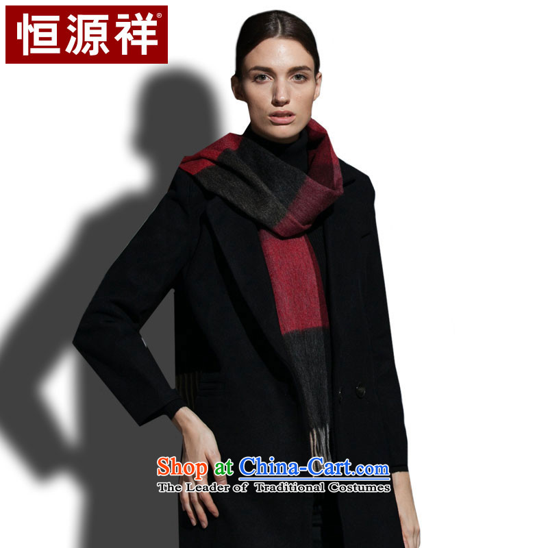 Hang Cheung wool blend yarn source water marks the end of the scarf Sleek and versatile, female red.