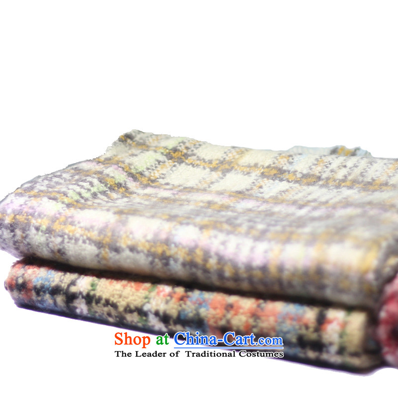 Days and new line wool Ms. polester velvet stylish and colorful thick a warm beige