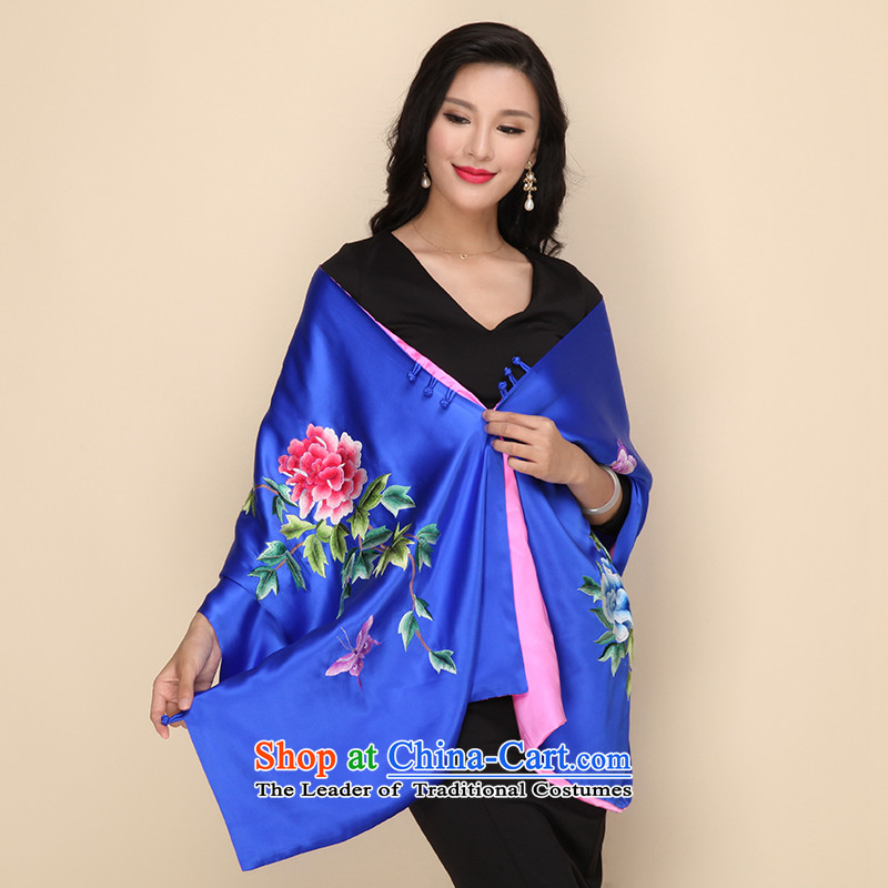 Shanghai Story handicraft embroidery double disk detained heavyweight silk scarves herbs extract long shawl scarves, Shanghai Story Two STORY IN SHANGHAI) , , , shopping on the Internet
