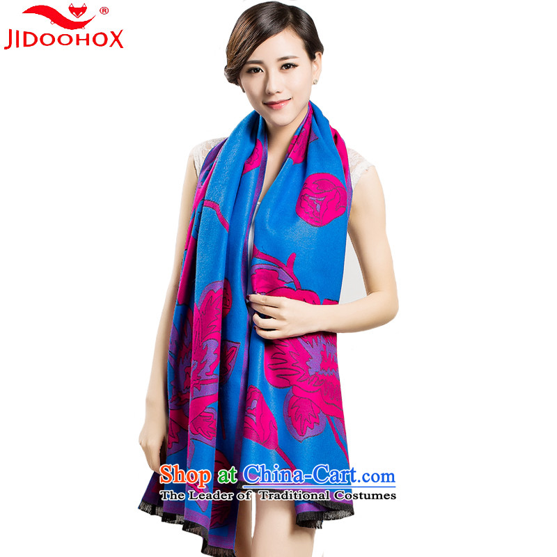 The end of the scarf female winter JIDOOHOX pashmina shawl female winter with two-long-thick a small stream, Blue
