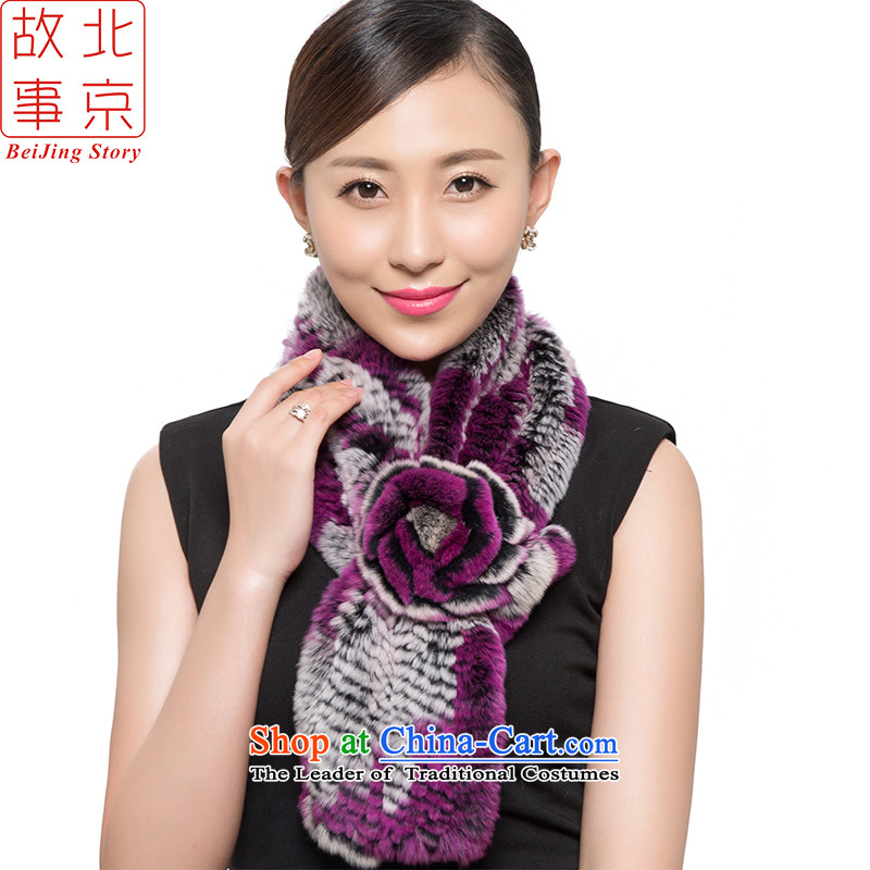 Beijing2015 new process story rabbit hair scarf Women warm winter a boast a smile 178062 Transactions