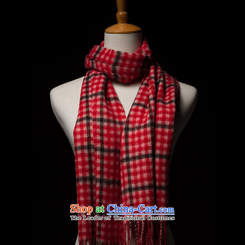 Hengyuan Cheung wooler scarf simple and stylish autumn and winter warm, female pink _Red_