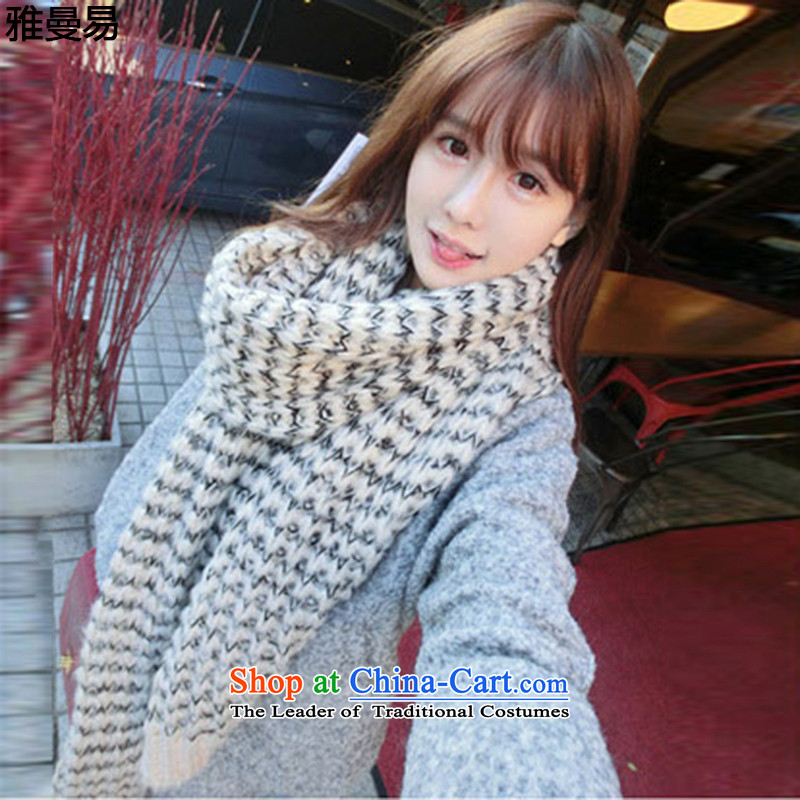 Jamann vulnerable 2015 winter new scarves knitted warm sweater thick a female 8897 m White