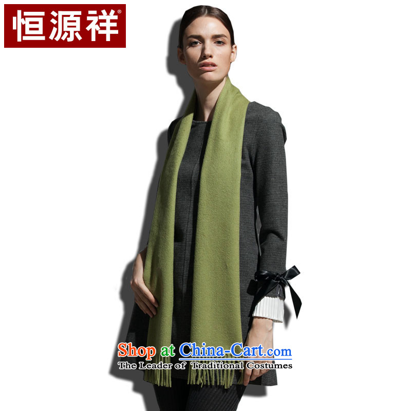 Hengyuan Cheung wooler scarf autumn and winter warm thick stylish wild green beans _light green_