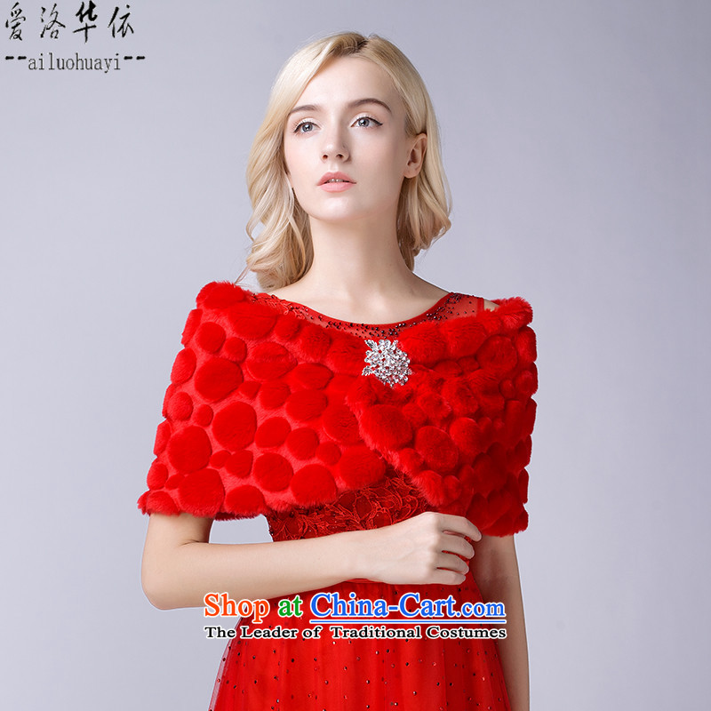 Winter) cotton warm red hair shoulder dress red bows services will work with the new 2015 shawl Winter Sweater shawl plus gross cotton shawl marriage