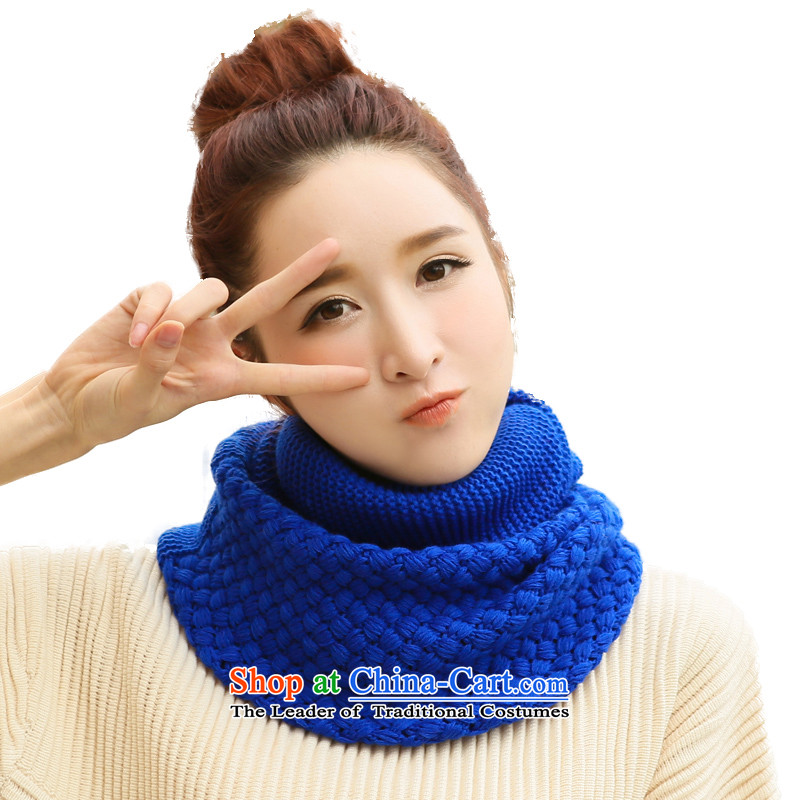 Handkerchief also female autumn and winter Warm Korean students new stylish Winter Sweater Knit pure color kit and a blue - sunflower)