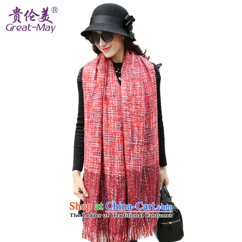 The US military winter female Korean fashion scarves dyes process with two shawls scarves knitted warm winter and autumn scarf WJ0128 wine RED YELLOWETC female