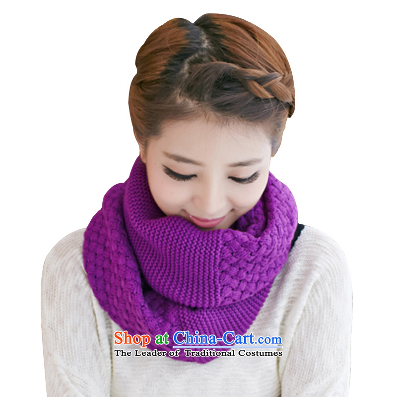Knitting scarves a girl of autumn and winter thick Warm Korean winter knitting kit and purple