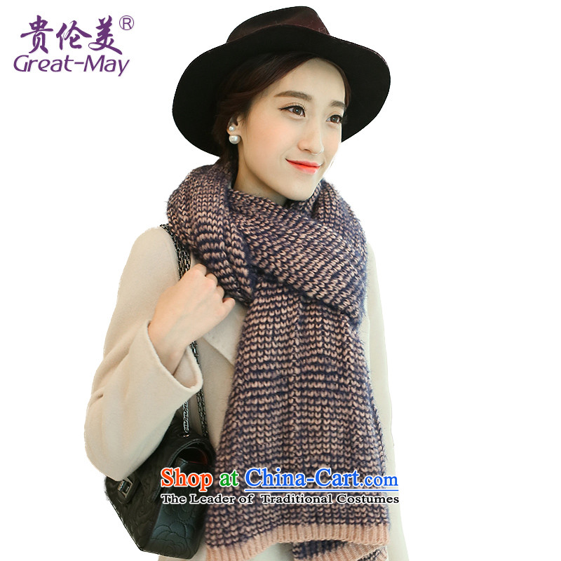 The United States and her Knitting scarves, girls Fall Winter thick warm knitted a Korean soft-down Ms. Winter scarf WJ0115 gross Pink