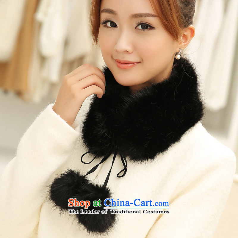 Leave the ball up collar winter female Korean wild stylish decoration of the collar of his child for adoption gross black ball ball false collar