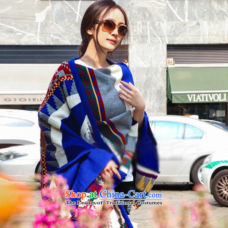 Fancy Scarf of autumn and winter Korean female new Bohemia color knitting sweater geometry a Picture Color