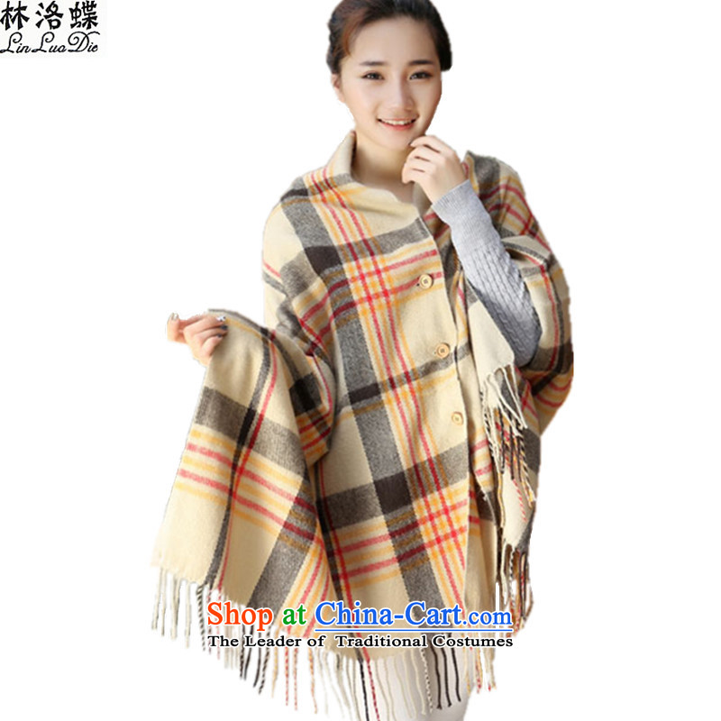 Lin, butterfly聽2015 new autumn warm winter shawl scarf warm air-conditioning coin pashmina shawl latticed emulation edging lisping students scarf latticed coin shawl card its