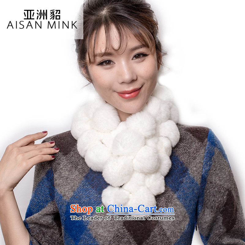 The Korean version of the new 2015 solid color fur muffler female a rabbit hair. Pure Color scarf winter ball warm modern and simple billowy flounces rabbit hair scarf multi-color optional solid-colored white