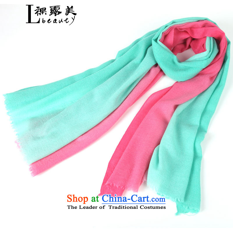 The United States 2015 autumn and winter bare woolen scarves Dual gradients handkerchief also women cape won wind stylish shawl green powder gradients
