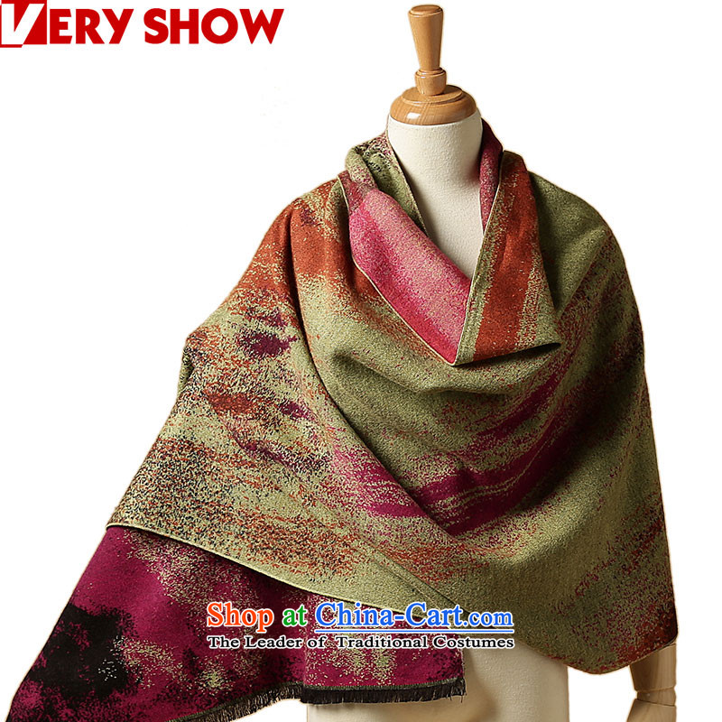 Autumn and winter shawl broadening VERYSHOW2015 long spell color paintings poster Cashmere scarf warm Thick Long WJ0228 Girl No. 4 Color Paintings