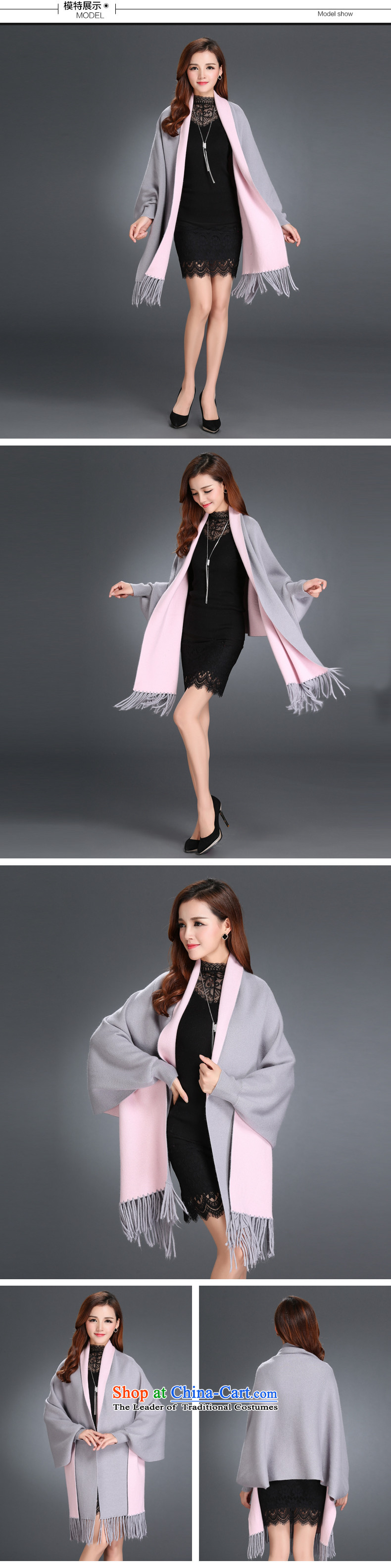The autumn and winter new women's double-sided mink coats, lint-free knitting cardigan bat shirt edging cloak shawl sweater jacket female toner gray photo, prices, brand platters! The elections are supplied in the national character of distribution, so action, buy now enjoy more preferential! As soon as possible.