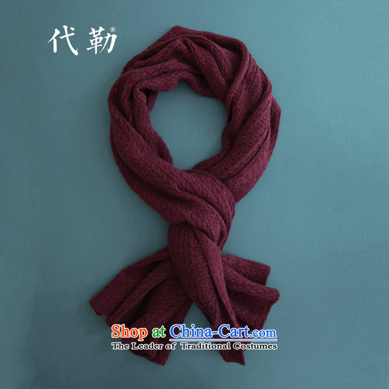 2015 Majdal autumn and winter new shawl wooler scarf female warm a wine red are code