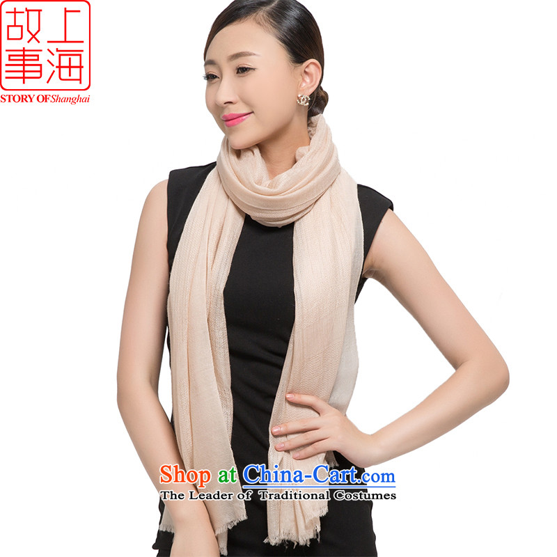 Shanghai Story2015 new thick pashmina women winter long a warm classic solid color shawl twill 178025 Beige