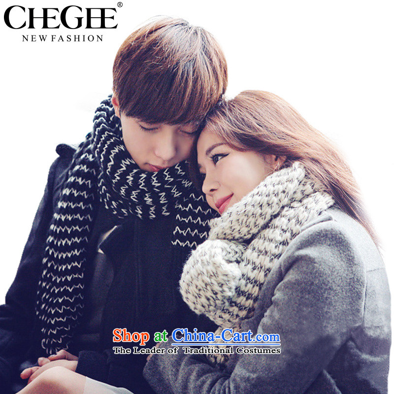 New anthology of autumn and winter warm Knitting scarves Mohair Korean men and women taxi couples scarf black