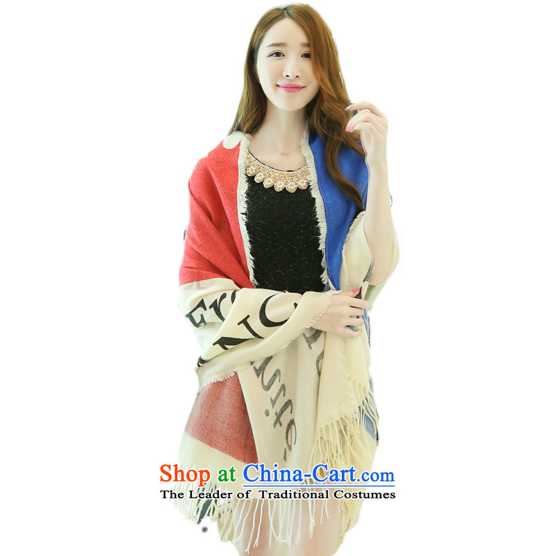 The British female scarves wind of autumn and winter long Knitting scarves thick Korean Ms. warm knitting a fall winter wind of England scarf