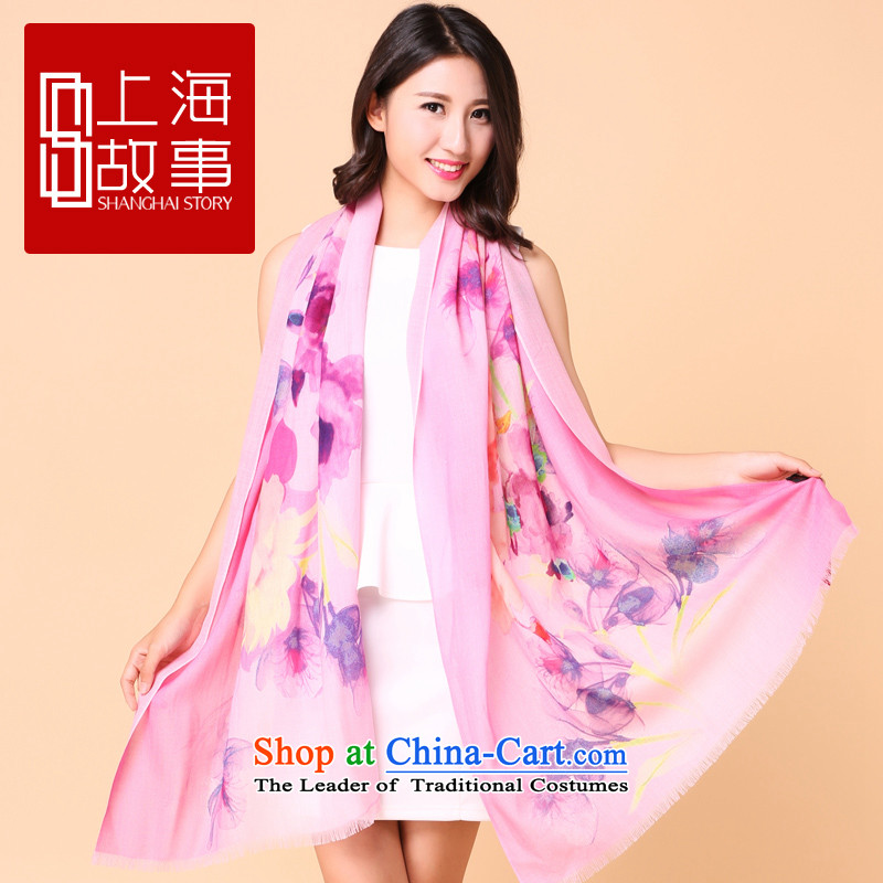 2015 new products Shanghai Story wooler scarf female winter spring and autumn long woolen scarf shawl ecological or W-red in the eco-W