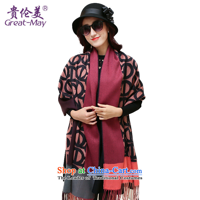 The US military Fall Winter Han board cooling Ms. shawl scarf Large Jacquard Knitting scarves female WJ0116 winter deeppink