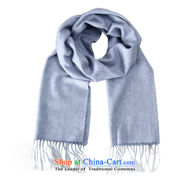 Shanghai Story Ms. men pashmina shawl pure color a thick Sleek and versatile autumn and winter long New Light Blue