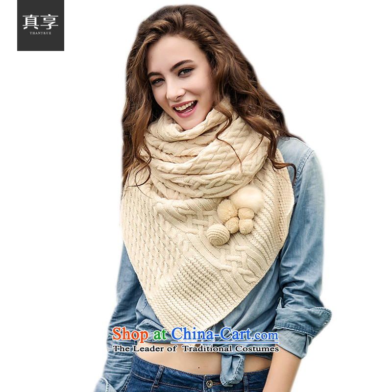 Really enjoy women Knitted Scarf autumn and winter Warm Korean Twist Knitting scarves W060 beige