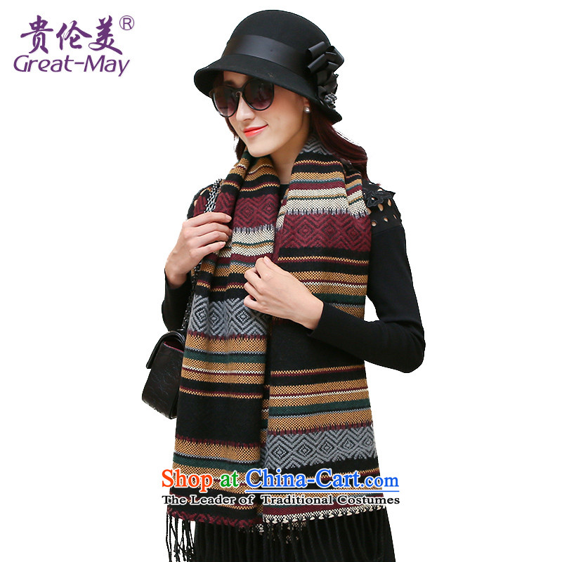 The Ms. Karen scarf of autumn and winter Korean shawl scarves with two extra long knitting Jacquard Scarf a checkered long towel WJ0120X female coffee