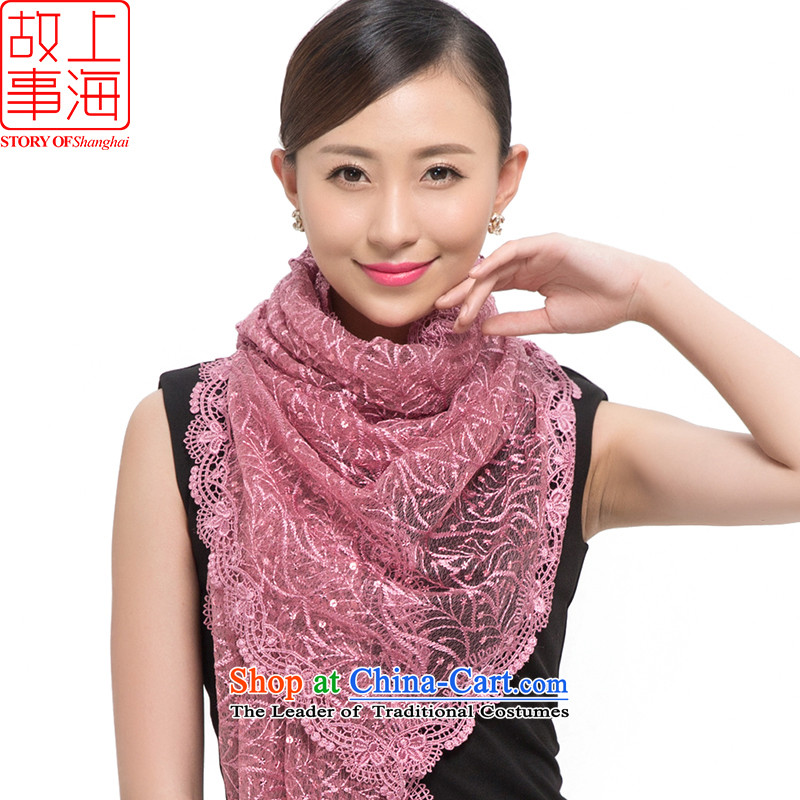 Shanghai Story2015 new stylish light film of the scarf women sunscreen shawl Star City 178034 rubber red