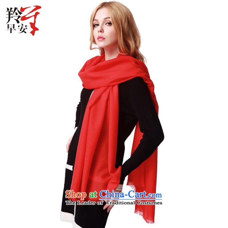 Good morning antelope wooler scarf autumn and winter warm聽361- true colors red