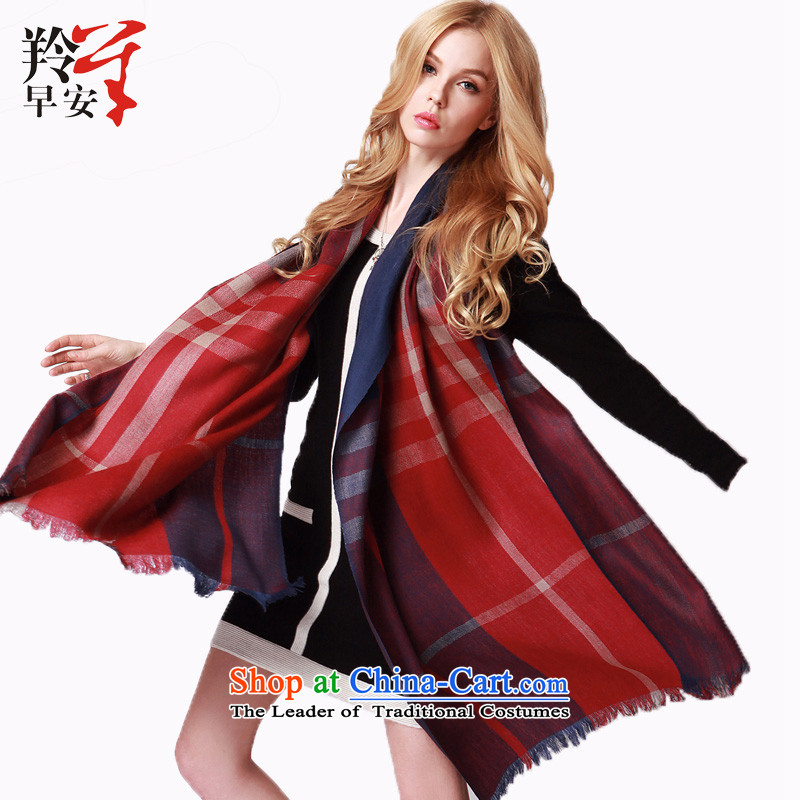 Good morning wool tartan scarves antelope autumn and winter warm with two shawls will love - English thoroughbred