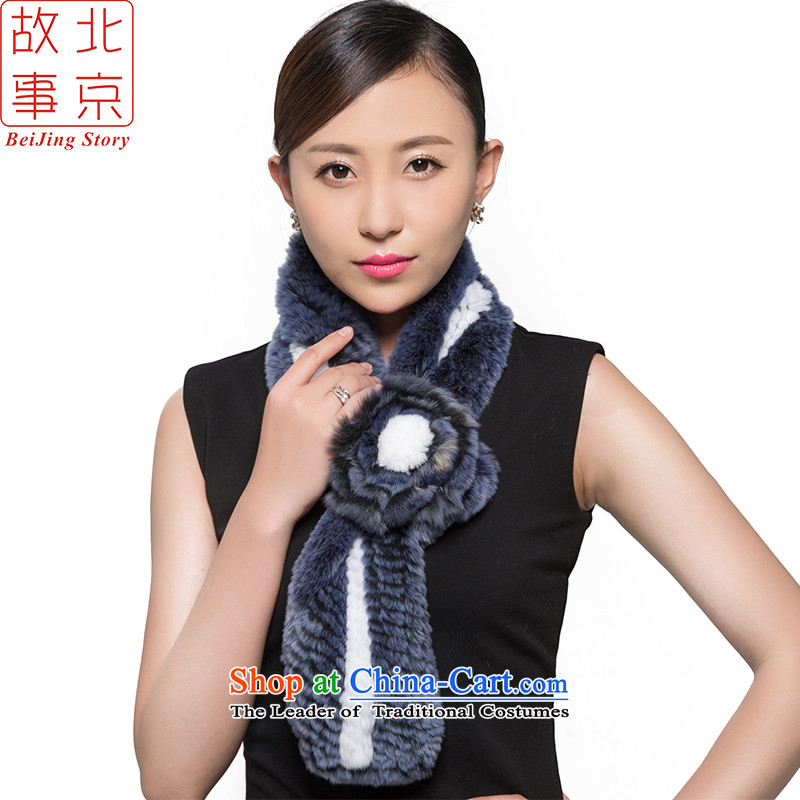 Shanghai Story, and woolen cravat female autumn and winter a 15062 Warm White Blue