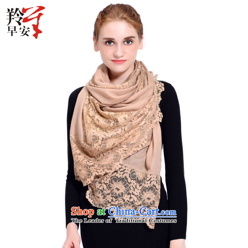Good morning antelope wooler scarf embroidery warm shawl Yuen about faction - and color