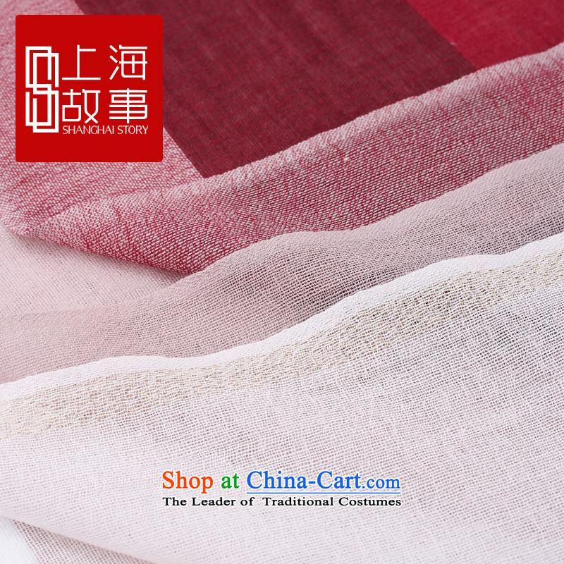 Shanghai Story counters genuine autumn and winter on new stylish /pashmina shawl long wool scarf lava red lava red - red