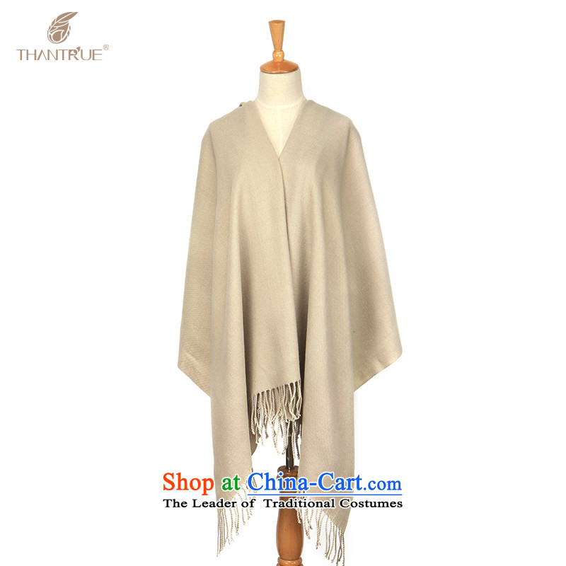 Enjoy true autumn and winter thantrue Korean intensify Fancy Scarf two with women pure color flow so wild warm a light gray crabs W028