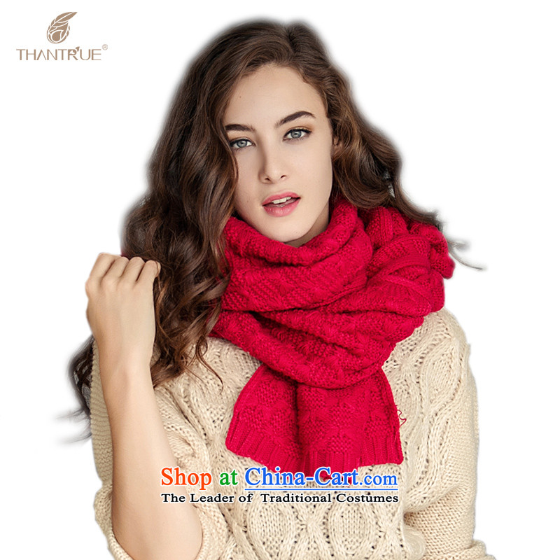 Enjoy a women really thantrue stylish Knitting scarves leisure extended a warm W002 Red
