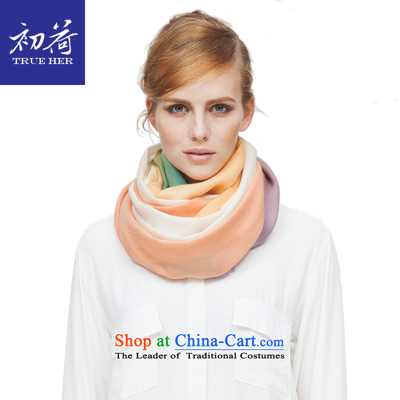 I should be grateful if you would have the beginning of the end of the scarf of autumn and winter new worsted wool Ms. gradient style warm-ups long shawl female4313a girlfriend Gifts sent seven-color gradient
