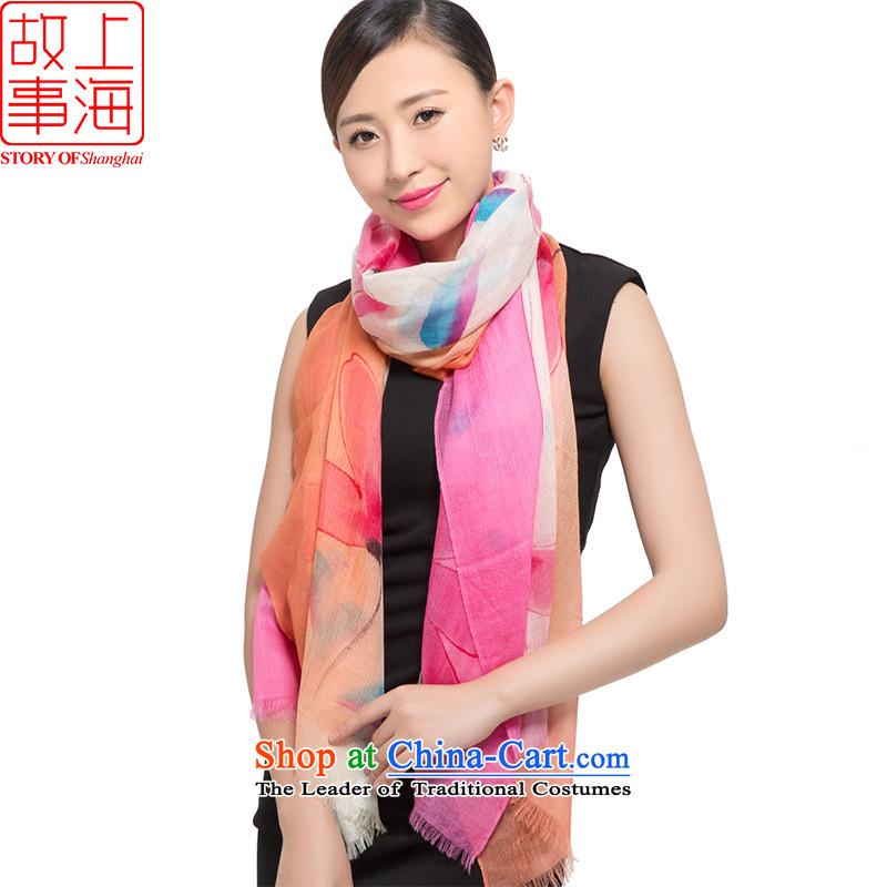 Shanghai Story2015 200 new pashmina women winter long a warm shawl111887live orange Pink