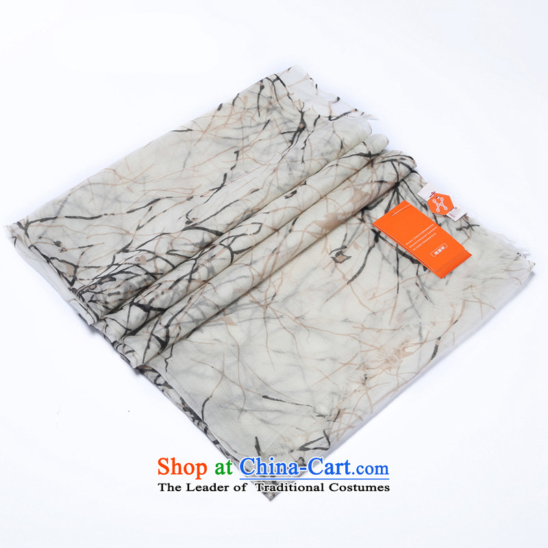 Hengyuan Cheung 2015 new cashmere ring flat stamp, lint-free long scarf gift boxed black