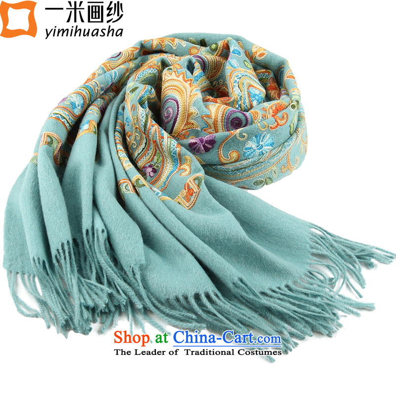 One meter animation yarn 2015 autumn and winter new Coarse wool spinning embroidery shawl blue