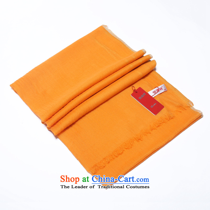 Hengyuan Cheung 2015 New Cashmere wool Ms. coagulates monochrome long scarf gift boxed orange
